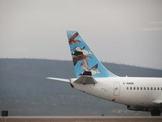 First Air Boeing 737-200 plane with puffins on its tail
