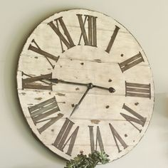 Want a large wall clock. doesn't even have to be working! Just need to fill some empty wall space with this and pictures around it. Want it to look a little old though. #bigemptywall