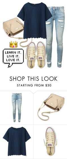 """""""Learn it. Live it. Love it."""" by rusher-decorazon on Polyvore featuring moda, Off-White, Uniqlo y Converse"""