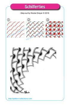 Doodle Patterns 434738170277558769 - Schilfertjes by Nicole Dreyer Source by Doodles Zentangles, Tangle Doodle, Zentangle Drawings, Doodle Drawings, Doodle Art, Zen Doodle Patterns, Doodle Designs, Zentangle Patterns, Doodle Borders