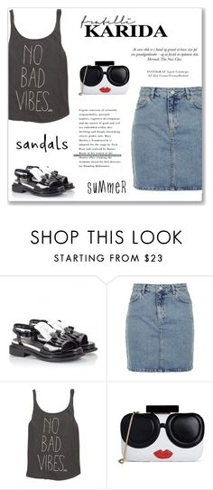 """""""The Cutest Summer Sandals"""" by vidrica ❤ liked on Polyvore featuring Robert Clergerie, Topshop, Billabong and Alice + Olivia"""