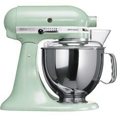 Buy KitchenAid - Artisan Almond Mixer w/ Ice Cream Bowl at Peter's of Kensington, Sydney, Australia. Why in the world would you shop anywhere else for KitchenAid? Kitchenaid Artisan Stand Mixer, Kitchen Aid Artisan, Artisan Cafe, Kitchen Aid Mixer, Kitchen Robot, Artisan Food, Domestic Appliances, Sweet Home, Kitchenaid