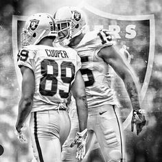 Amari Cooper Michael Crabtree Oakland Raiders Los Angeles Raiders Silver and Black