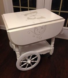 Shabby Chic Drop Leaf Tea Cart by City Girl, Country Livin'