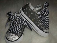 Baby bedazzled converse