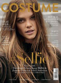 Nina Agdal pose on Costume Magazine January 2016 cover