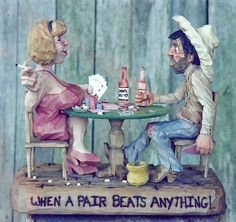 """"""" When a pair beats anything"""" carved by Chris Hammack"""