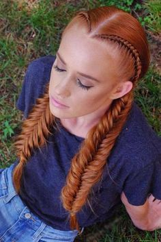 Double Fishtail Braids Hairstyles picture1