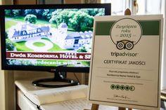 Certyfikat Jakości 2015 Tripadvisor dla Dworu Kombornia. Serdecznie dziękujemy za to wyróżnienie:)