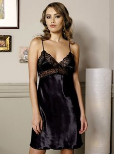 5452f39f3a Pierre Cardin 603 Satin Nightdress will make you redefine comfort when you  wear this cozy and stylish.