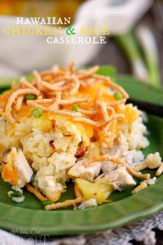 Get ready for a new favorite - Hawaiian Chicken and Rice Casserole! An easy weeknight dinner that uses ingredients you probably already have in your pantry!