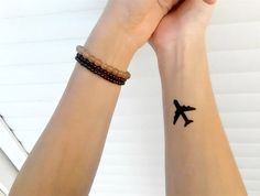 plane, small, tattoo, travel, world