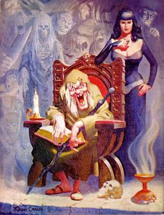.Art by Johnny Craig The Vault-Keeper and Drusilla from EC Comics.