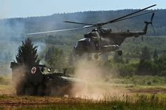 Mi 17 and Pandur of Czech air force and Army
