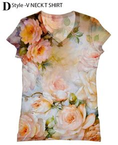 woman PLUS SIZE flower print top, t shirt and tank(6-76) by hellominky on Etsy