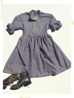 The Fall is for Gingham Collared Shirtdress. Limited Edition. Fleur + Dot.