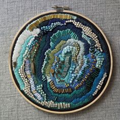 "Embroidery Projects sosuperawesome: "" Abstract Embroidery Art, by Eden Luquire on Etsy See our 'embroidery' tag "" - Abstract Embroidery, Embroidery Hoop Art, Hand Embroidery Patterns, Beaded Embroidery, Cross Stitch Embroidery, Contemporary Embroidery, Modern Embroidery, Textiles, Textile Art"