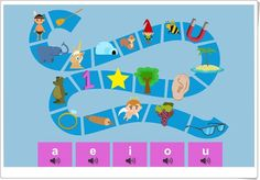 El sendero de las vocales (Juego de vocales para Educación Infantil) Fran, Spanish, Apps, Activities, Homemade Cards, Teaching Resources, Trekking, Spanish Language, App