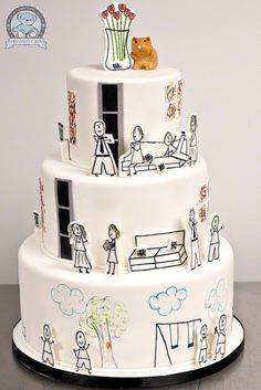 Cartoon cake, Adorable!