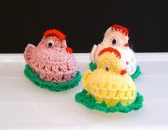 Chick amigurumi Easter chicks amigurumi Crochet Chicken Crochet Easter Egg Easter Basket Holiday decor spring vintage FREE Ship