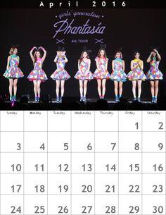 少女時代*春カレンダー1604ღ800 x 1035
