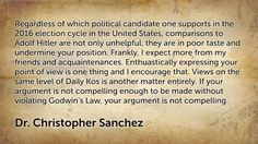 Christopher Sanchez Blogs: Regardless of which political candidate one supports...