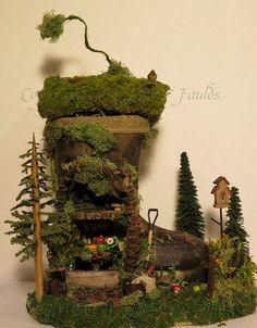The Fairy Boot Gardener (lol, fairy garden in a boot!)