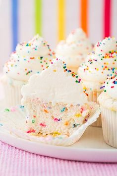 Funfetti Angel Food Cupcakes: We wouldn't blame you if you made these purely for the purpose of aesthetic appeal, but their flavor is just as worthy of your attention (and not just because there are sprinkles involved). - Delish.com