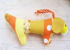 Toy soft baby patchwork dog dachshund wiener in by poppyshome, €14.00