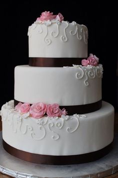 13 Tier Fondant Cakes Photo - 3 Tier Fondant Wedding Cake, Wedding ...