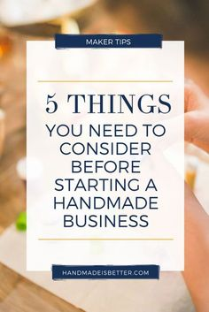 If you're thinking of having your own handmade business, here are the things that you have to remember. Whether you want to sell on Etsy, craft shows or create a Shopify website, here are maker tips for you! Pin it now and save it for later!