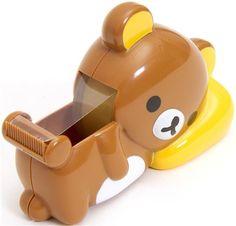 Rilakkuma bear adhesive tape dispenser cutter