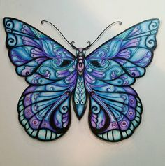 Alright one more. Wood Butterfly, Butterfly Drawing, Butterfly Pictures, Butterfly Wallpaper, Butterfly Wings, Magical Jungle Johanna Basford, Coloring Books, Coloring Pages, Joanna Basford
