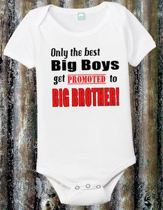 Big Brother Onesie Big Brother Shirt 6 12 18 24 by FunhouseTshirts, $13.99