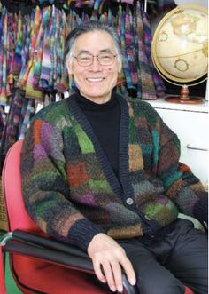 Noro Yarns. Yarnmarket has a great article about Eisaku Noro and how he creates his gorgeous fibers.