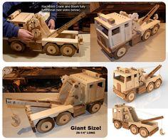 Mega-Toys GIANT Lumber Truck Wood Toy Plan Set