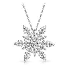 Bling Jewelry Silvertone CZ Snowflake Holiday Pendant Necklace 16in ($40) ❤ liked on Polyvore featuring jewelry, necklaces, clear, zirconia necklace, christmas jewelry, rolo chain necklace, cubic zirconia pendant necklace e snowflake pendant necklace