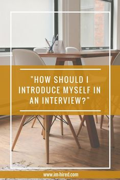 Now no pressure but the start of the interview is by far the most important thing. We have all heard the saying never judge a book by its cover but when it comes to an interview, hiring managers and recruiters are making quick decisions and I mean quick. First impressions do very much count so you need to take a deep breath and make sure the best possible version of you comes forward. #introduce #interview #job