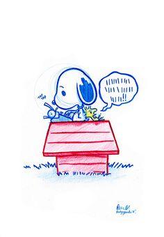 Woodstock tells Snoopy his woes