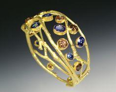 Cognac diamond and sapphire bracelet by Sam Shaw. Delicious.