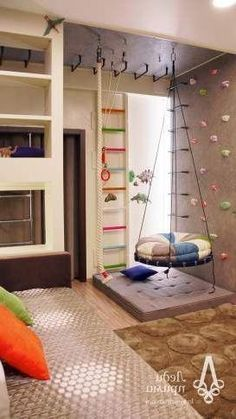 So, here we are with a great collection of Outstanding Modern Kids Room Ideas That Will Bring You Joy. Kids Basement, Basement Ideas, Gymnastics Room, Room Decor For Teen Girls, Game Room Kids, Kids Room Design, Modern Kids, Cool Rooms, Girl Room