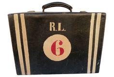 One Kings Lane - The Vintage Voyager - Travel Bag, C. 1920