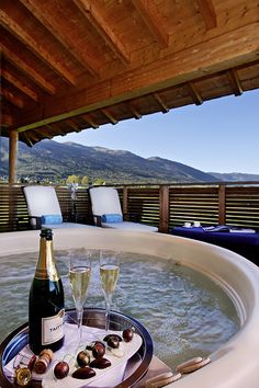 Jiva Hill Resort. Hôtel et restaurant à la montagne. France, Crozet. #RelaisChateaux #JivaHill #Spa #Champagne