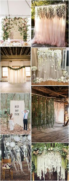 5e3400928 Rustic Weddings » 30 Unique and Breathtaking Wedding Backdrop Ideas » ❤  More  http