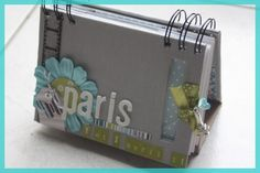 "Tuto mini album "" Paris""  I like the two separate spirals to bind together"