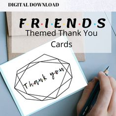 Friends Themed Thank You Cards Baby Shower Bridal Shower image 0 Bridal Shower Party, Baby Shower Parties, Baby Showers, Bachelorette Decorations, Bachelorette Games, Blue Bridal, Get The Party Started, Friends Tv Show, Baby Shower