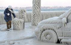 Car encased in ice - PhotoBlog