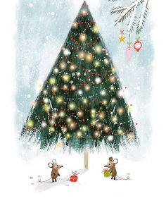"Ag Jatkowska on Instagram: ""Happy Christmas! 🌲🎁🌲🎁🥰🌲🌲 @brightagencyuk 🌲🌲🎄#christmas #christmastree #christmasdecor #merrychristmas #happychristmas #winter #snow"" Christmas Decorations, Christmas Ornaments, Holiday Decor, Kids Lighting, Christmas Design, Winter, Illustrators, Whimsical, Merry Christmas"