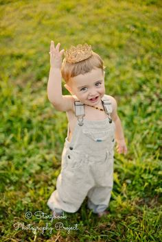 My son Grayson, 21 months, depicting The Little Prince. Copywright Clarissa Lynch of the Storybook Photography Project. Crown courtesy of Handcrafted Crowns