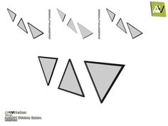 - Abbott Triangle Mirrors  Found in TSR Category 'Sims 4 Mirrors'